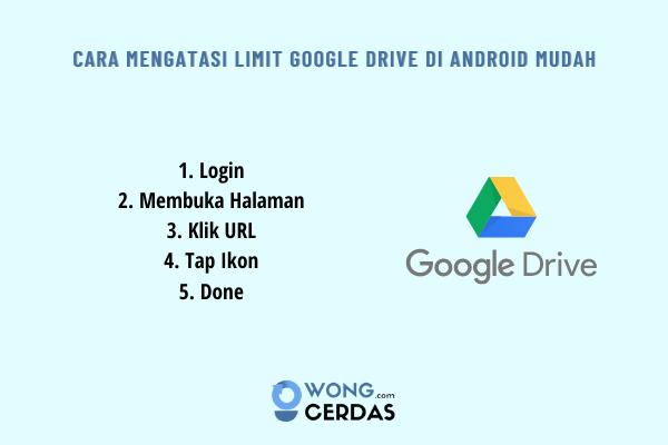 Cara Mengatasi Limit Google Drive di Android