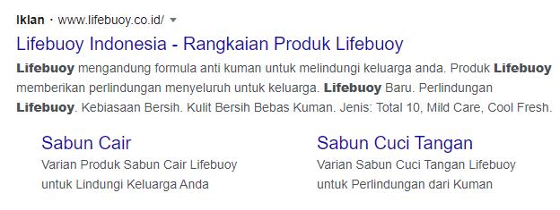 contoh iklan teks oleh google ads