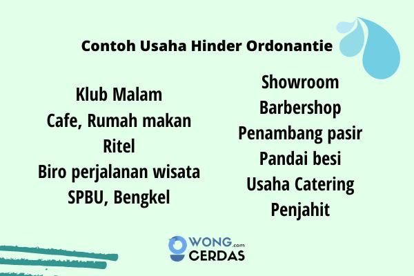 Contoh Usaha Hinder Ordonantie